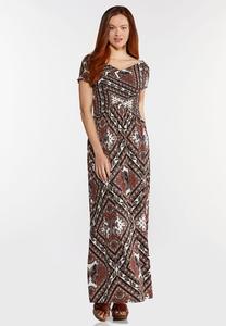 Smocked Bodice Maxi Dress