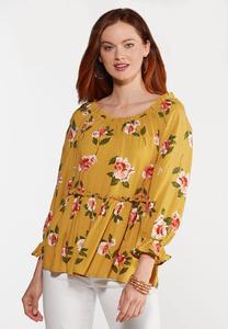 Honey Floral Poet Top