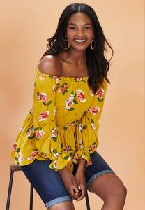 Honey Floral Poet Top