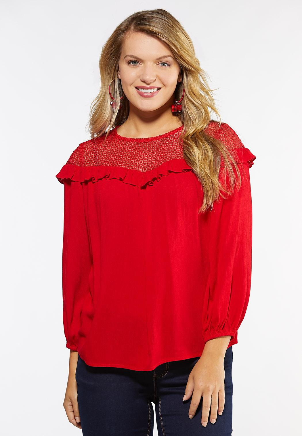 Lace And Ruffle Poet Top