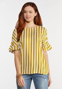 Plus Size Sunshine Stripe Top