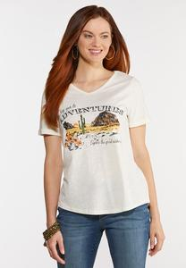 Plus Size Yes To Adventures Tee