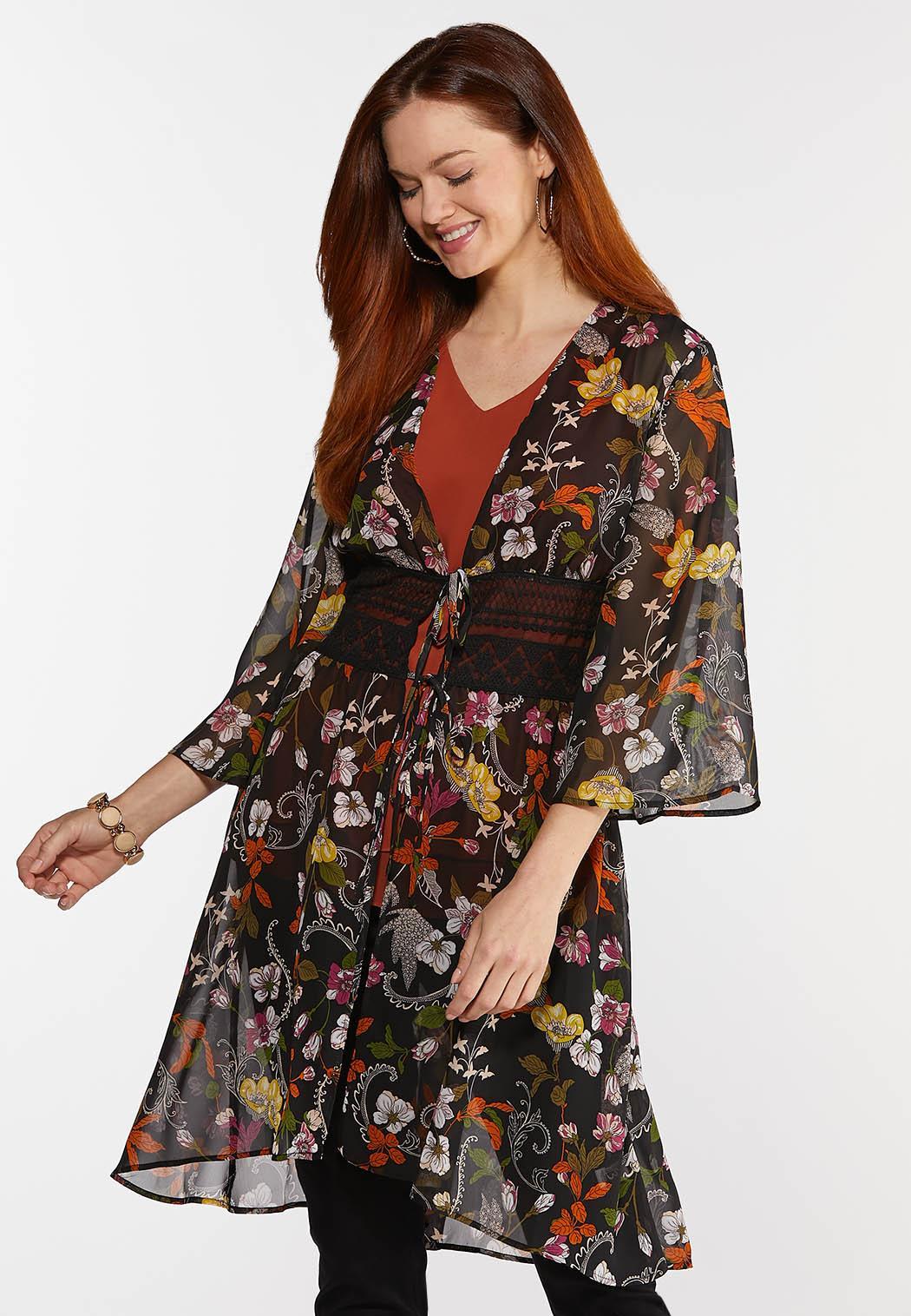 Plus Size Garden Party Kimono
