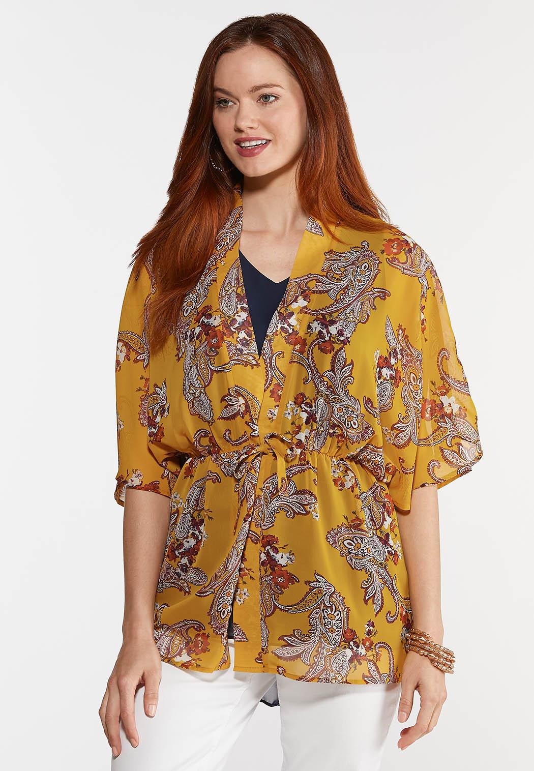 Gold Paisley Kimono