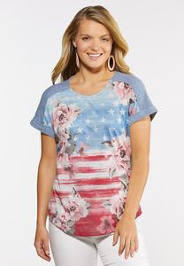 Floral Americana Tee