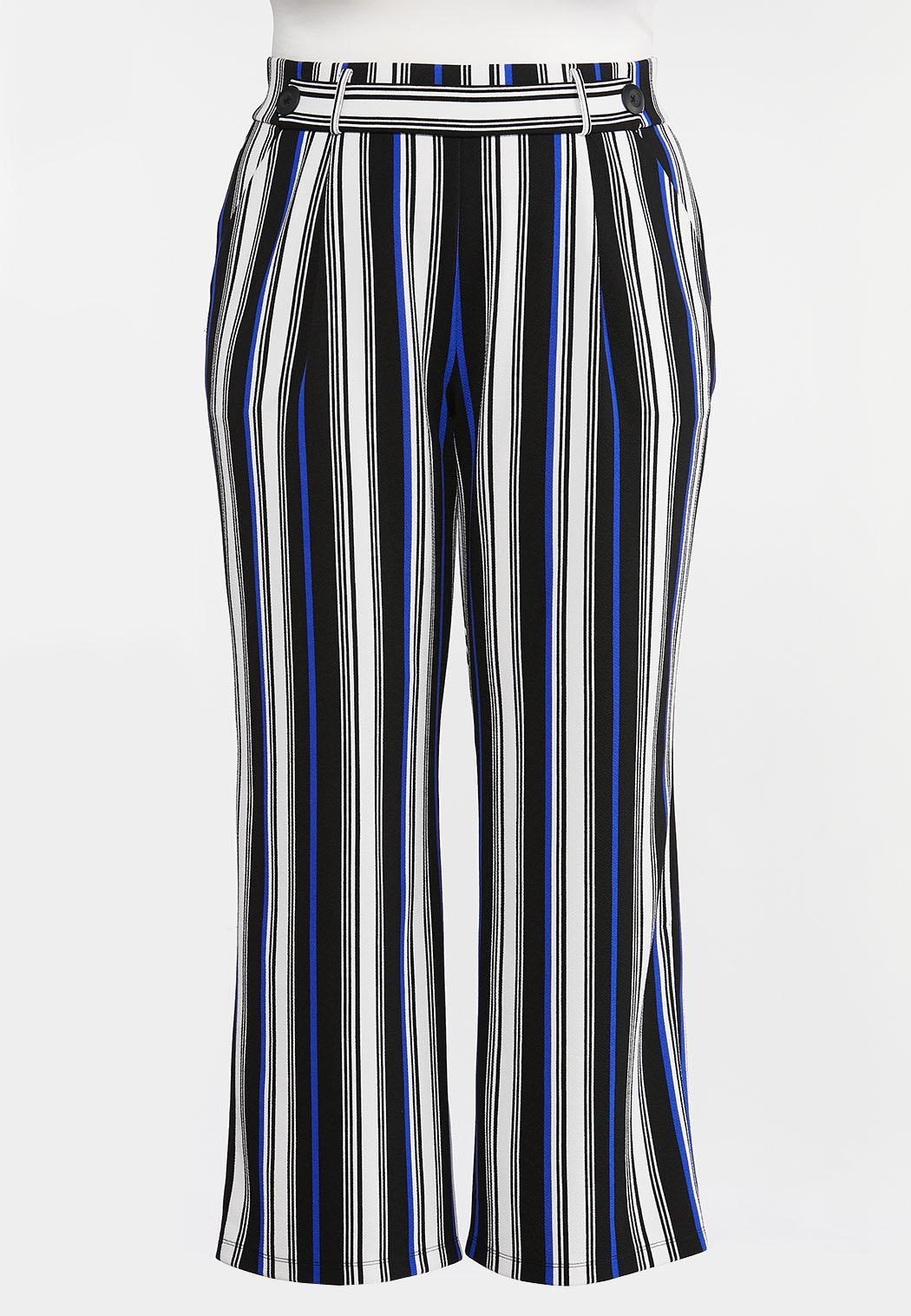 Plus Petite Blue Stripe Palazzo Pants