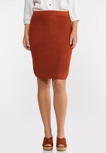 Rust Sweater Skirt