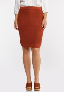 Rust Sweater Skirt