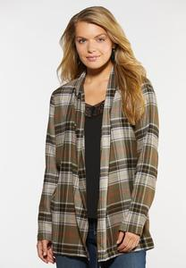 Plaid Elbow Patch Jacket