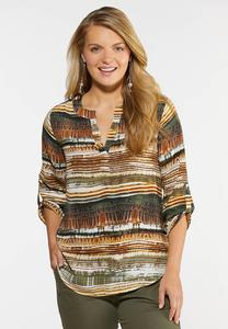 Neutral Print Pullover Top