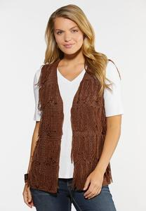 Yarn Tasseled Vest