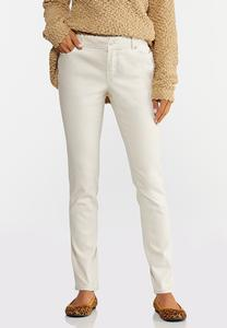 Mid-Rise Colored Skinny Jeans