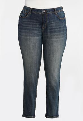 Plus Size Mid- Rise Skinny Jeans