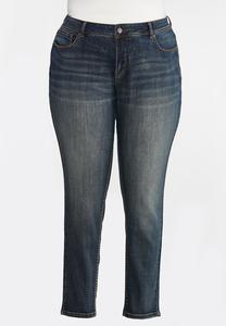 Plus Size Mid-Rise Skinny Jeans
