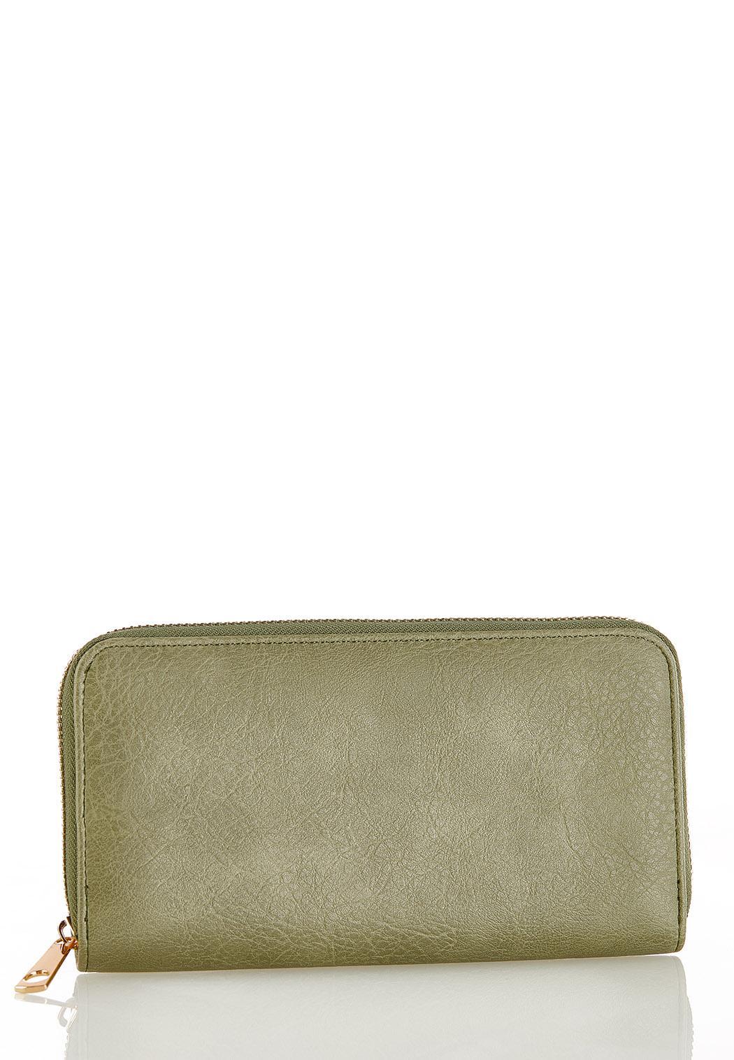 Green Zip Around Wallet
