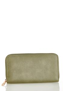 Green Zip Around Wallet