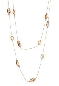 Multi Glass Bead Illusion Necklace