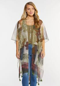 Sheer Tasseled Kimono