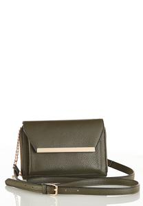 Metal Bar Convertible Crossbody