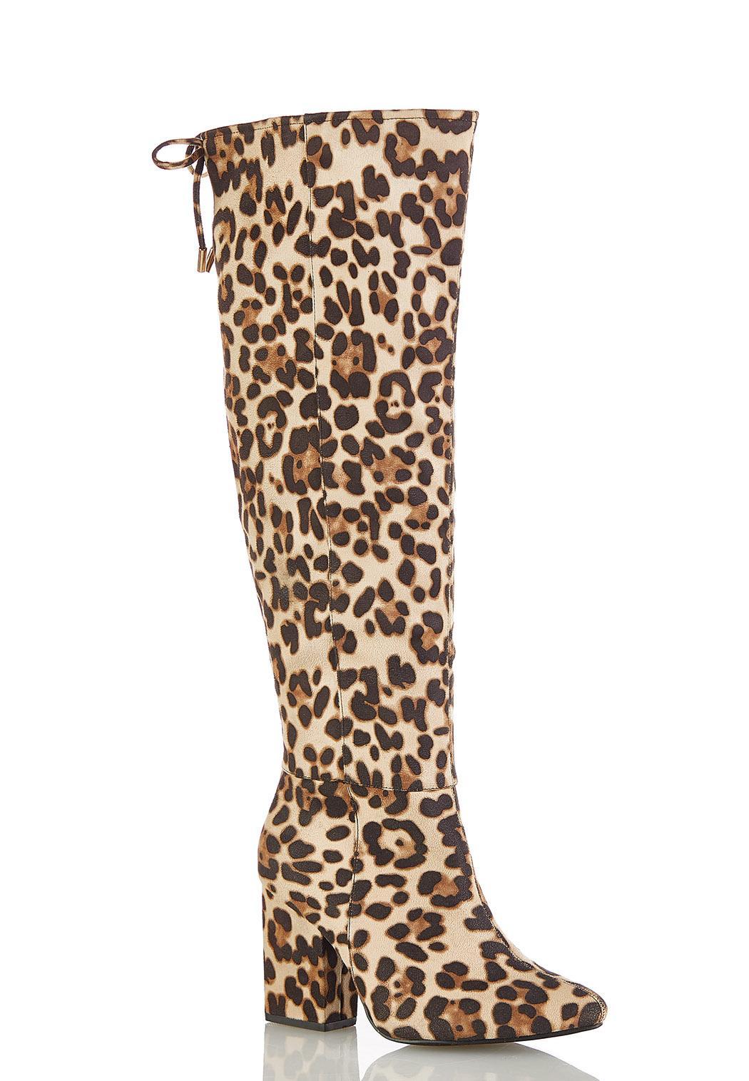 Leopard Tall Boots