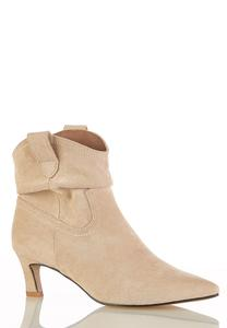 Faux Suede Western Booties