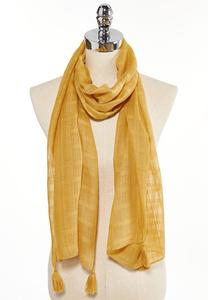 Tasseled Oblong Scarf