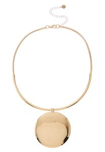 Gold Disk Statement Necklace