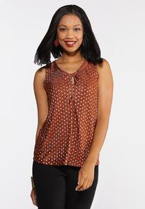 Plus Size Foiled Polka Dot Tank