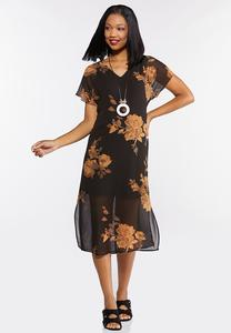 Rose Garden Chiffon Dress