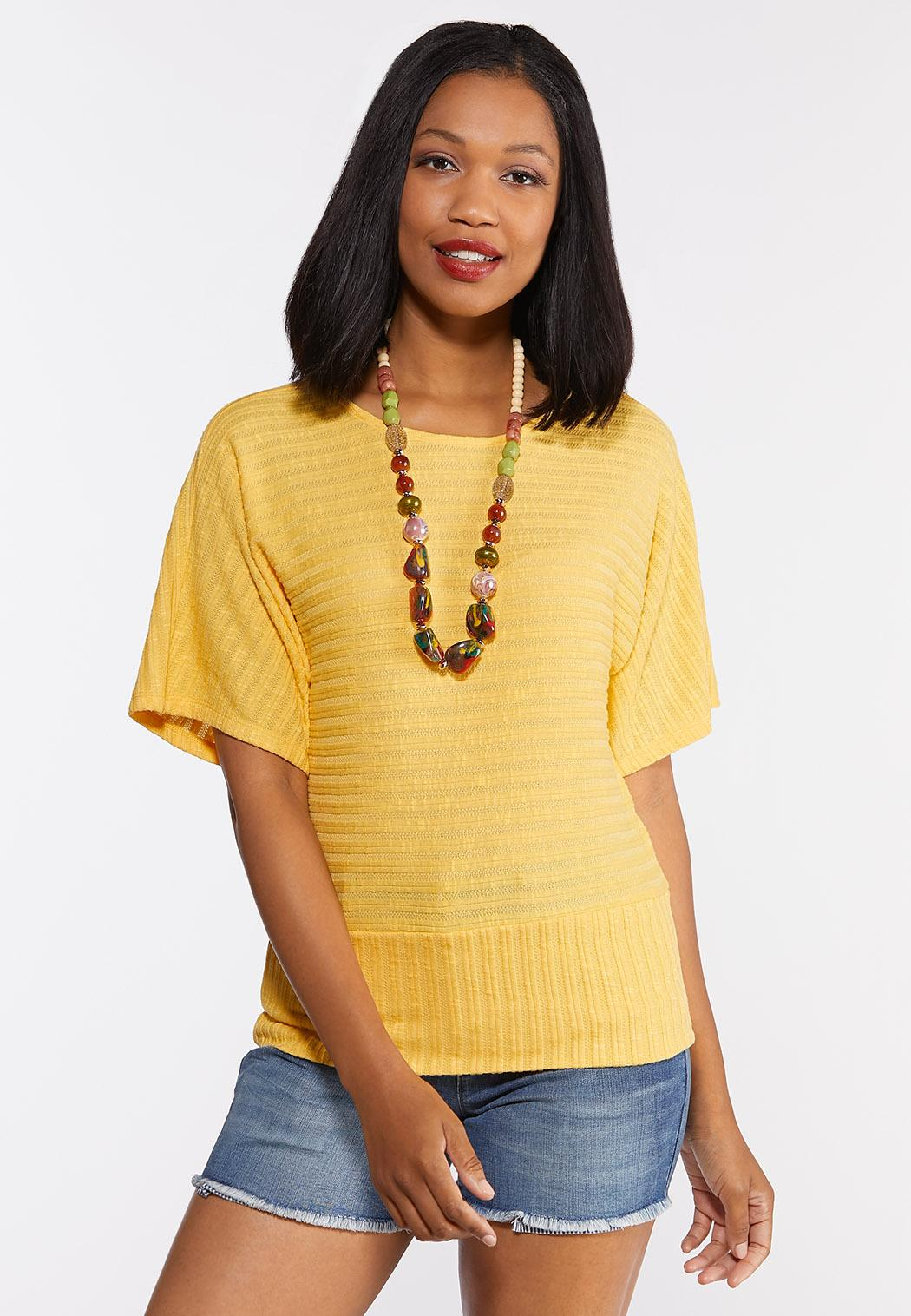 Ribbed Criss Cross Back Top