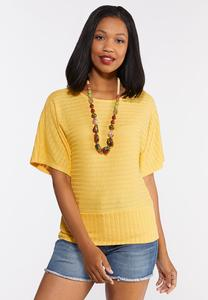 Plus Size Ribbed Criss Cross Back Top