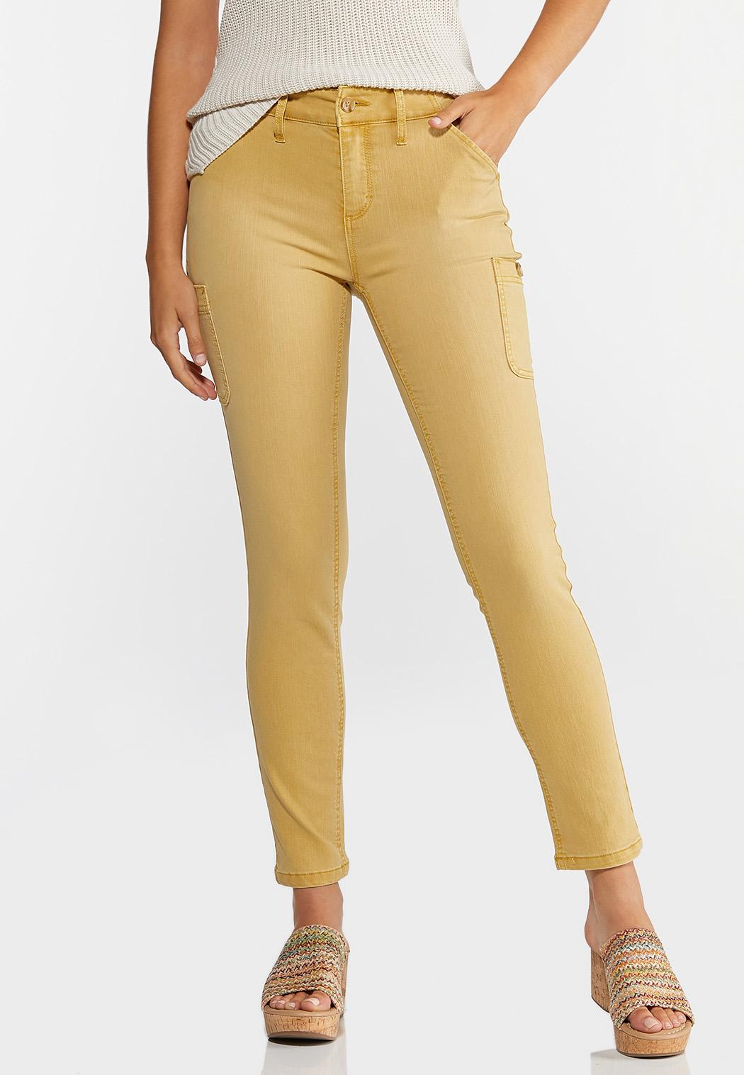 Cropped Utility Skinny Jeans