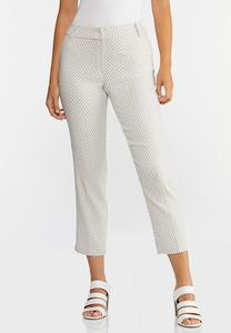 Textured Dot Bengaline Pants