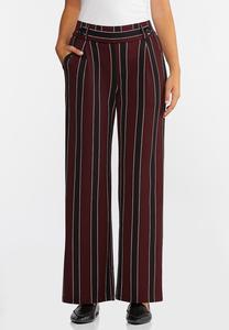 Petite Striped Wide Leg Pants