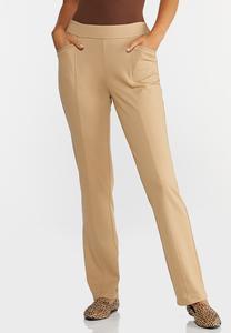 Straight Leg Ponte Pants