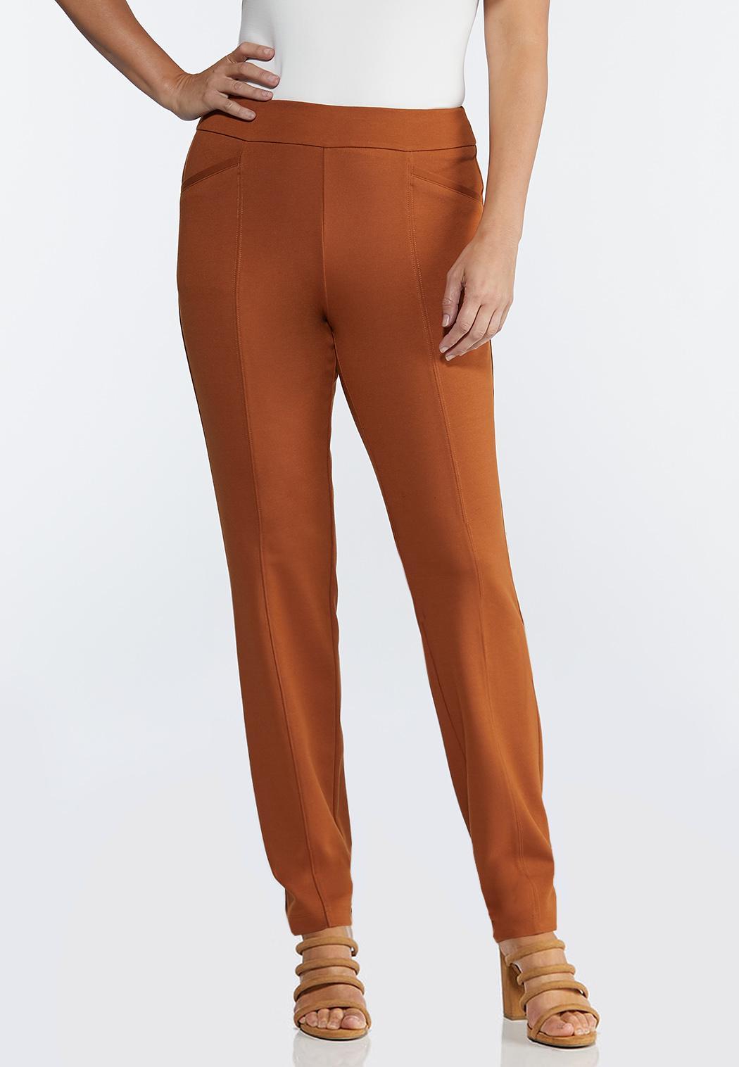 Petite Straight Leg Ponte Pants
