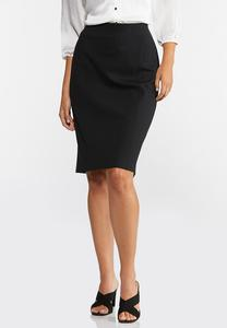 Ponte Pull-On Pencil Skirt