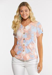 Watercolor Bloom Peplum Top
