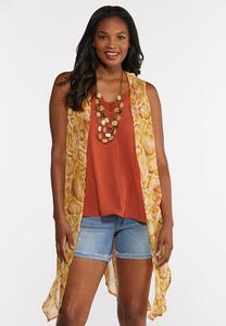 Sheer Snake Print Vest