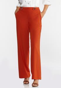 Solid Grommet Waist Pants