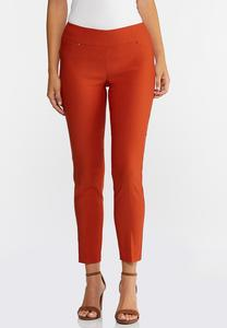 Petite Solid Grommet Waist Pants