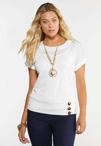 Plus Size Gauze Textured Top