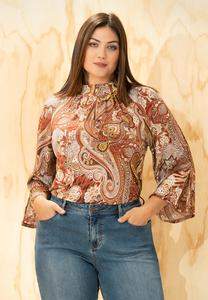 Paisley Mock Neck Top