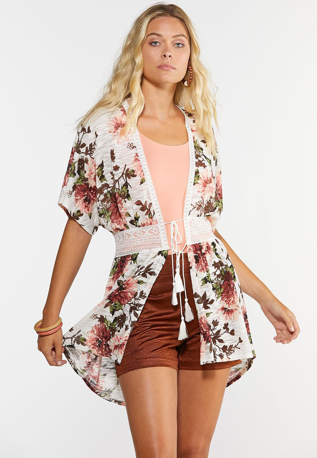 Lacy Floral Cardigan