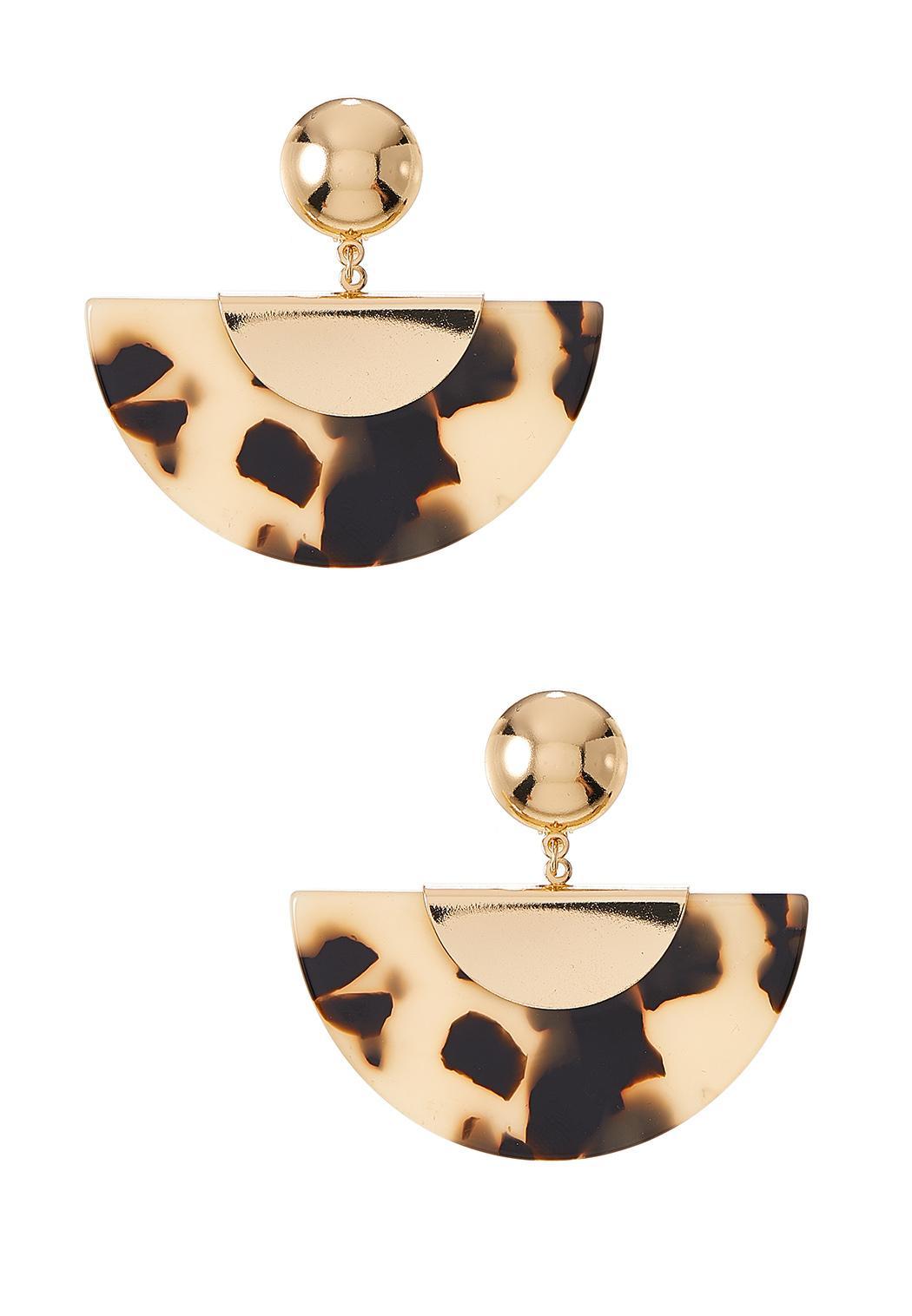 Tortoise Half Moon Earrings