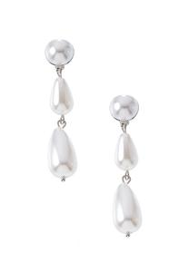Tiered Pearl Clip-On Earrings
