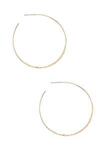 Thin Hammered Hoop Earrings