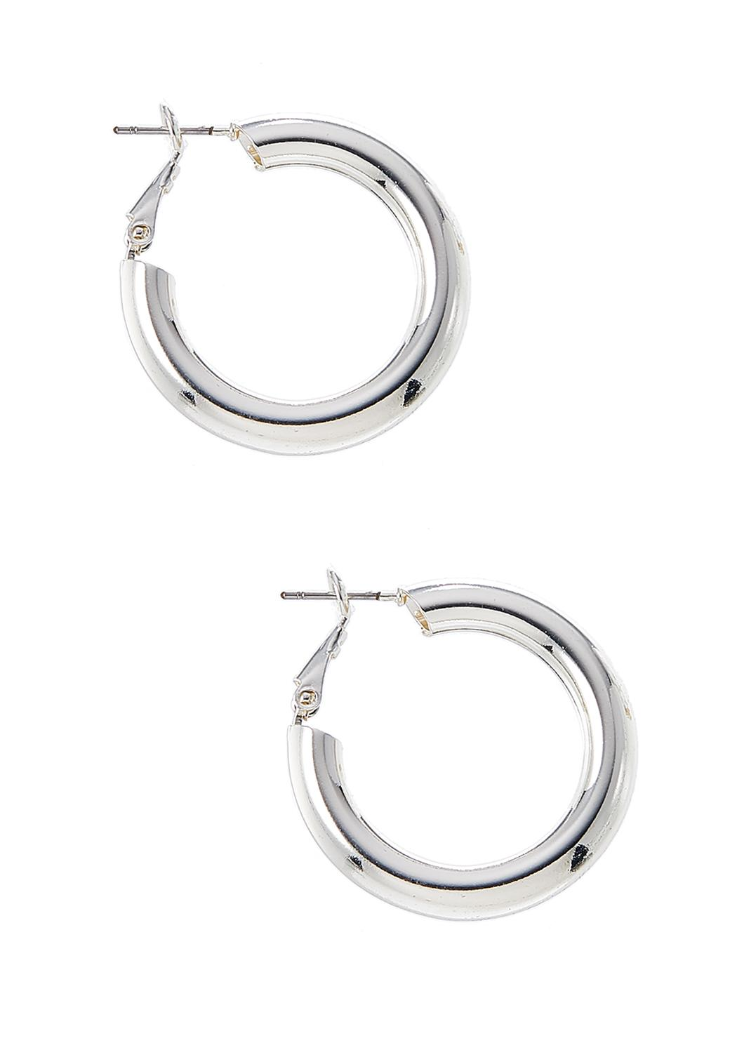 Chunky Silver Hoop Earrings