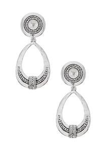 Antique Silver Clip-On Earrings