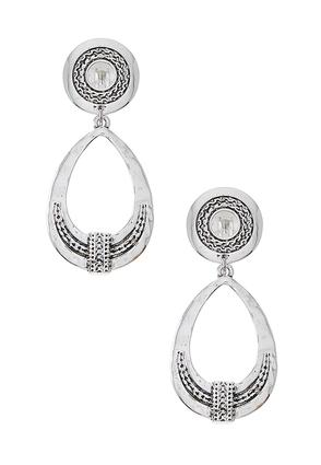 Antique Silver Clip- On Earrings